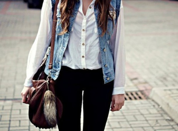 d5ol6q-l-610x610-shirt-black+leggings-white-jean+jacket-cute-blouse-jean-vest-bag-jacket-blue-girl-2015-2014-girl+closet-2014+fashion+trends