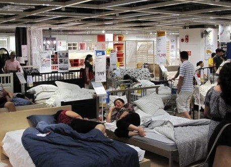 sleeping-at-ikea